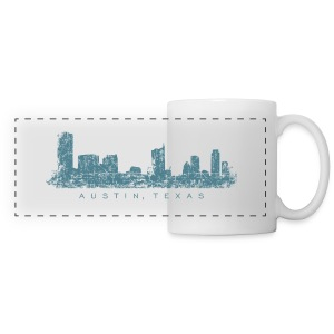 Austin, Texas City Skyline Vintage Blue