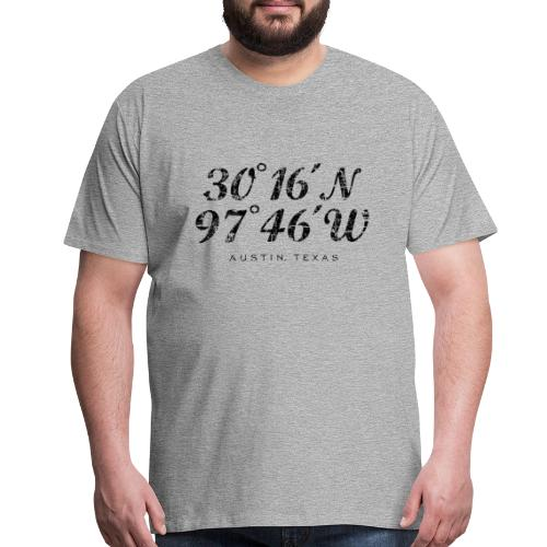 Austin Coordinates T-Shirt (Men/Gray) - Men's Premium T-Shirt