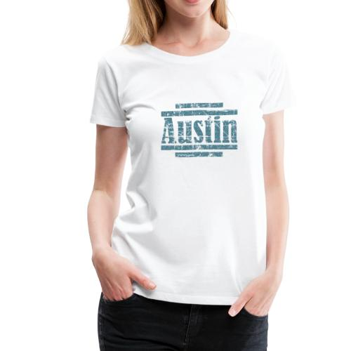 Austin T-Shirt (Women/White) Vintage - Women's Premium T-Shirt