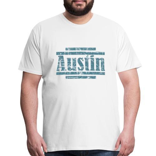 Austin T-Shirt (Men/White) Vintage - Men's Premium T-Shirt