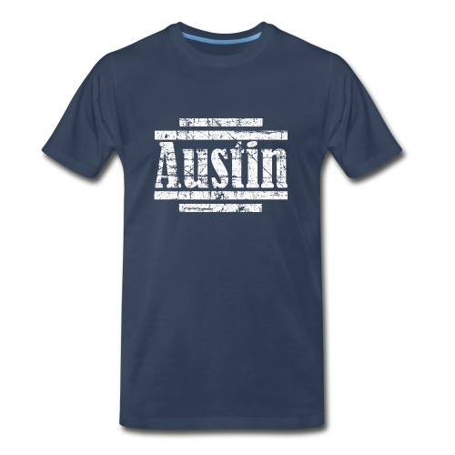 Austin T-Shirt (Men Navy/White) Vintage - Men's Premium T-Shirt