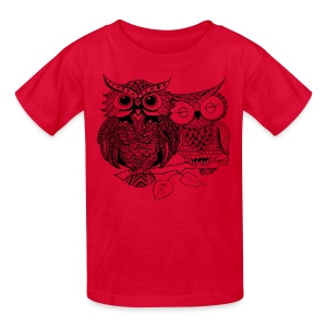 Tribal Owls Kids T-Shirt from South Seas Tees - Kids' T-Shirt