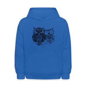 Tribal Owls Kids Hoodie from South Seas Tees - Kids' Hoodie