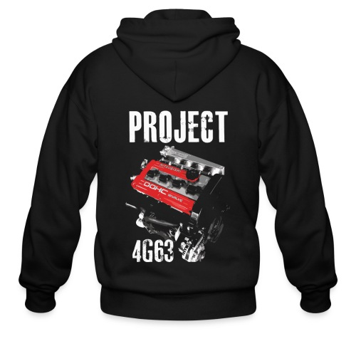 Project 4G63 Zipped Hoodie - Men's Zip Hoodie