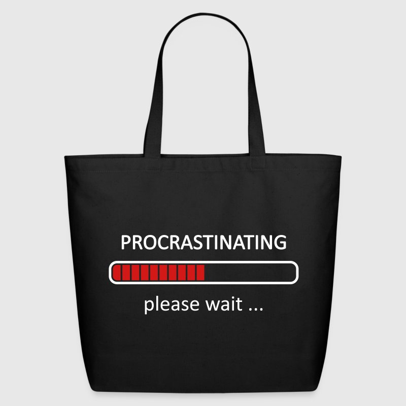 Procrastinating Please Wait Loading Bar Bags & backpacks - Eco-Friendly Cotton Tote