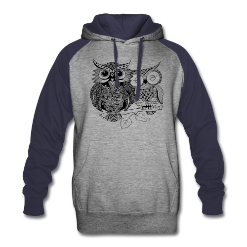 Tribal Owls Colorblock Hoodie from South Seas Tees - Colorblock Hoodie