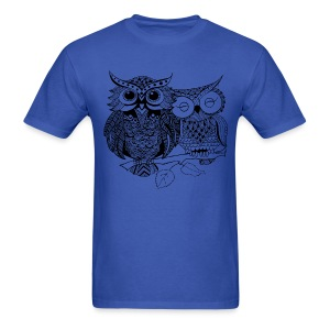 Tribal Owls Men's T-Shirt from South Seas Tees - Men's T-Shirt