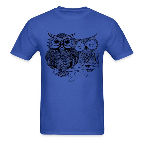 Tribal Owls Men's T-Shirt from South Seas Tees - Men's T-Shirt