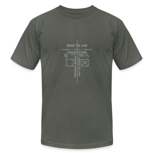 * 2016 Draw The Line * (velveteen print)  - Men's Fine Jersey T-Shirt