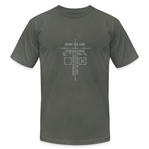 * 2016 Draw The Line * (velveteen print)  - Men's  Jersey T-Shirt
