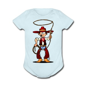 Cowboy with a lasso Baby Bodysuits - Short Sleeve Baby Bodysuit