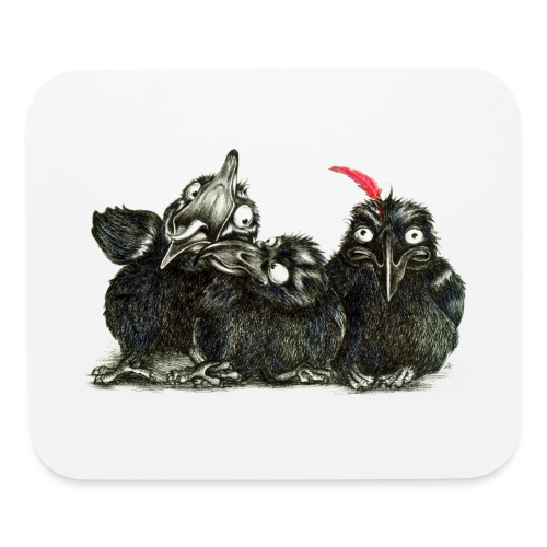 Three Young Crows - Mouse pad Horizontal