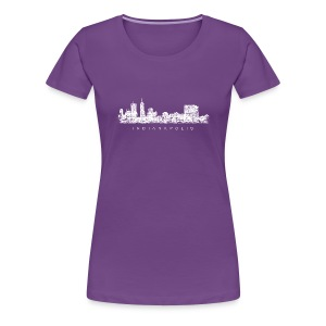 Indianapolis Skyline T-Shirt (Women/Purple) - Women's Premium T-Shirt