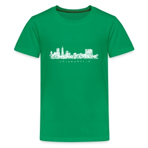 Indianapolis Skyline T-Shirt (Children/Green) - Kids' Premium T-Shirt