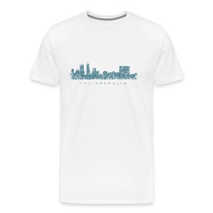 Indianapolis Skyline T-Shirt (Men/White) - Men's Premium T-Shirt
