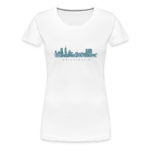 Indianapolis Skyline T-Shirt (Women/White) - Women's Premium T-Shirt