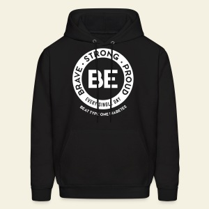 Men - BE sweatshirt - round white - Men's Hoodie