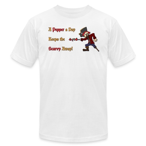 A Pepper a Day Keeps the Scurvy Away - Men's Fine Jersey T-Shirt