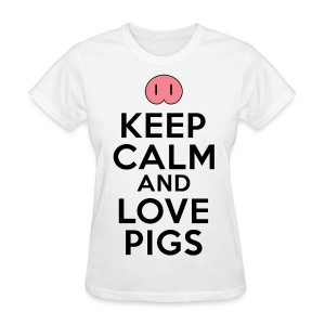Keep Calm Love Pigs Women's T-Shirts - Women's T-Shirt