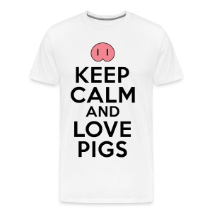 Keep Calm Love Pigs T-Shirts - Men's Premium T-Shirt