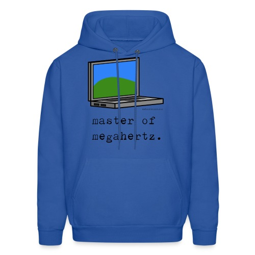 Men's Laptop Hoodie - master of megahertz. - Men's Hoodie