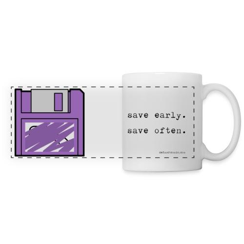 Floppy Diskette Mug - save early. save often. - Panoramic Mug