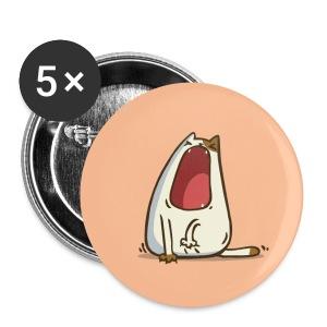 Yawncat — Friday Cat №28 - Large Buttons