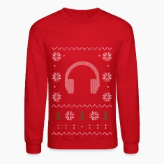 Winter DJ Headphones Xmas Long Sleeve Shirts