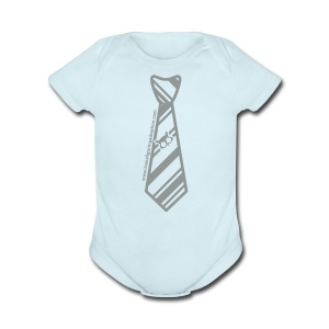 Blue/Silver   - Short Sleeve Baby Bodysuit