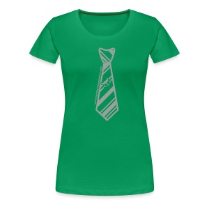 Green/Silver Ladies Transfiguring Adoption Shirt - Women's Premium T-Shirt