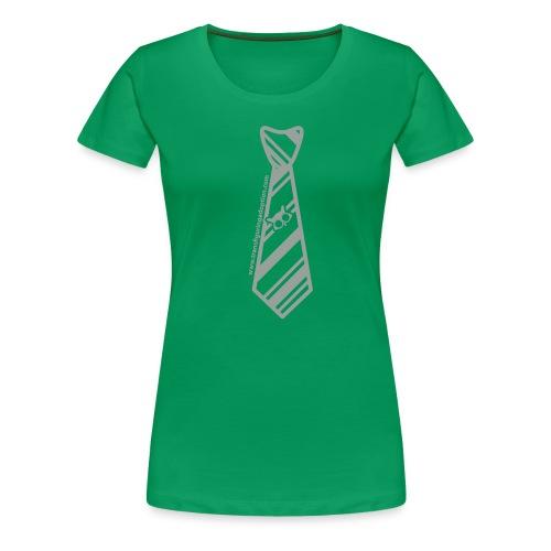 Green/Silver Ladies Transfiguring Adoption Shirt - Women's Premium T-Shirt