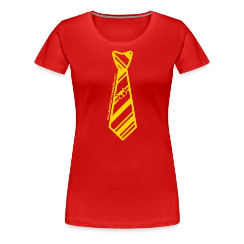Red/Gold Ladies Transfiguring Adoption Shirt - Women's Premium T-Shirt