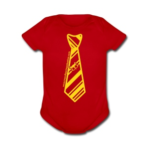 Red/Gold   - Short Sleeve Baby Bodysuit