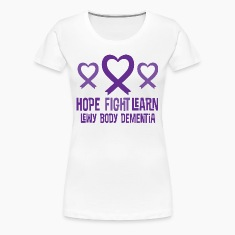 Lewy Body Dementia Heart Ribbon Hope Women's T-Shirts
