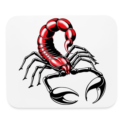 scorpion - red - Mouse pad Horizontal