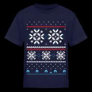 Kids' Shirts ~ Kids' T-Shirt ~ Holiday Fair Isle - Navy