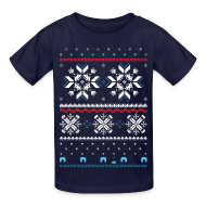 Kids' Shirts ~ Kids' T-Shirt ~ Holiday Fair Isle - Navy