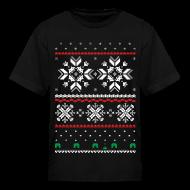 Kids' Shirts ~ Kids' T-Shirt ~ Holiday Fair Isle - Black