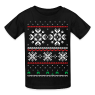 Kids' Shirts ~ Kids' T-Shirt ~ Holiday Fair Isle - Black