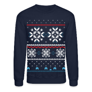 Long Sleeve Shirts ~ Crewneck Sweatshirt ~ HHoliday Fair Isle - Navy