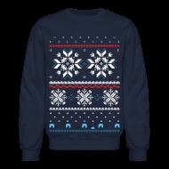 Long Sleeve Shirts ~ Crewneck Sweatshirt ~ HHoliday Fair Isle - Navy