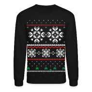 Long Sleeve Shirts ~ Crewneck Sweatshirt ~ Holiday Fair Isle - Black