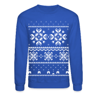 Long Sleeve Shirts ~ Crewneck Sweatshirt ~ Holiday Fair Isle - Royal