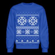 Long Sleeve Shirts ~ Crewneck Sweatshirt ~ Holiday Fair Isle - Royal