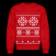 Long Sleeve Shirts ~ Crewneck Sweatshirt ~ Holiday Fair Isle - Red