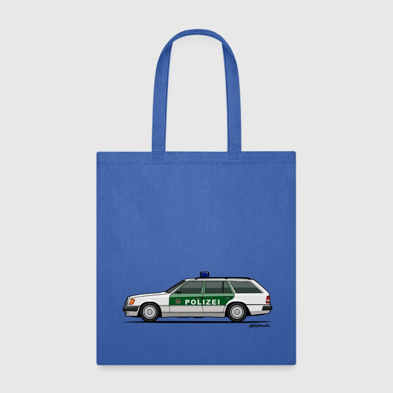Mercedes Benz W124 300TE German Police Autobahn Bags & backpacks - Tote Bag