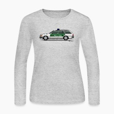 Mercedes Benz W124 300TE German Police Autobahn Long Sleeve Shirts