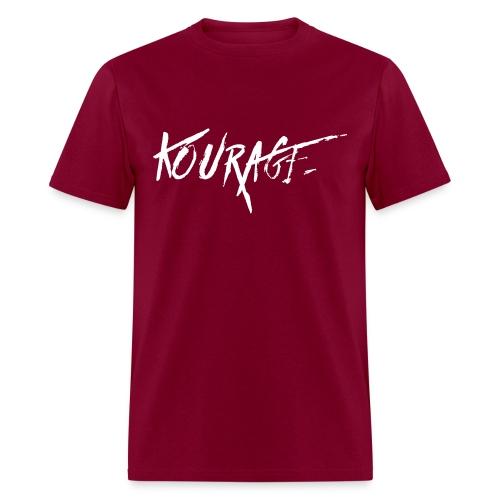 Men's Kourage Grunge Tee Burgundy - Men's T-Shirt
