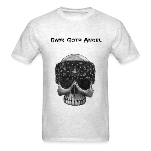 Dark Goth Angel Gangster Skull t-shirt - Men's T-Shirt