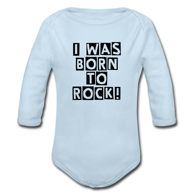 I Was Born To Rock One Piece - Long Sleeve Baby Bodysuit